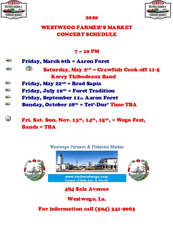 Westwego Spring Concerts