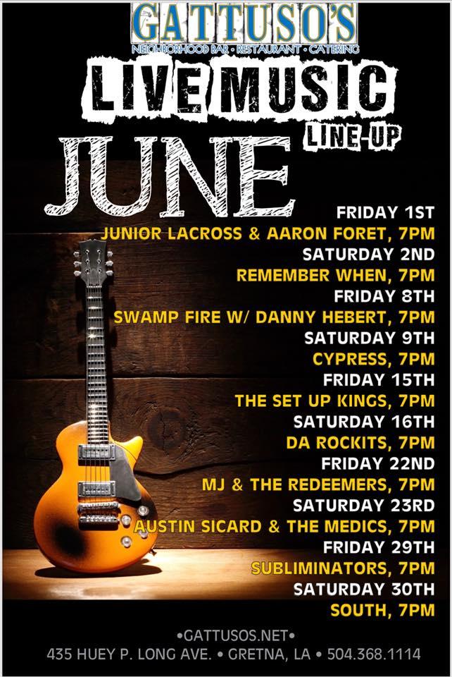 Gattuso's June Music Schedule