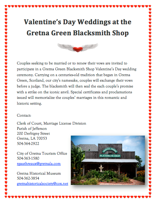 Gretna Valentine Weddings