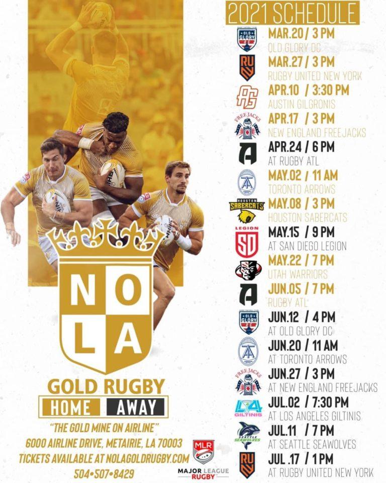 nola gold 2021 schedule