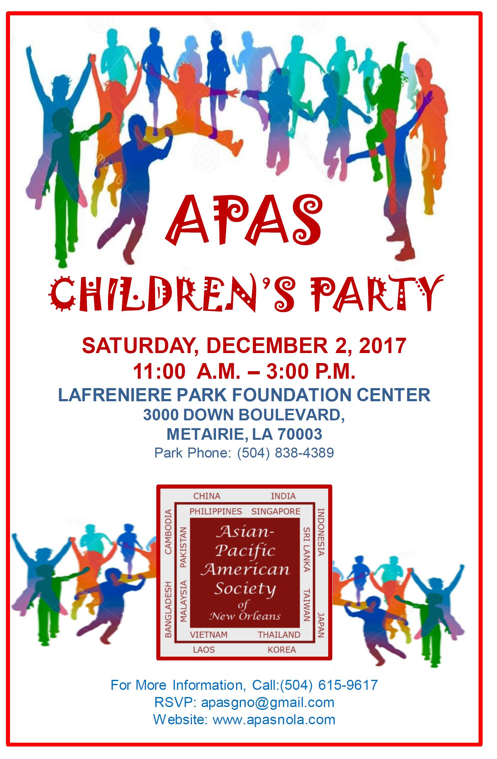 APAS Children's Party