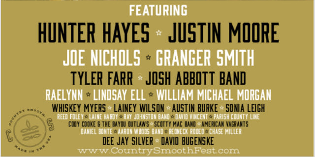 Country Smooth Festival Lineup
